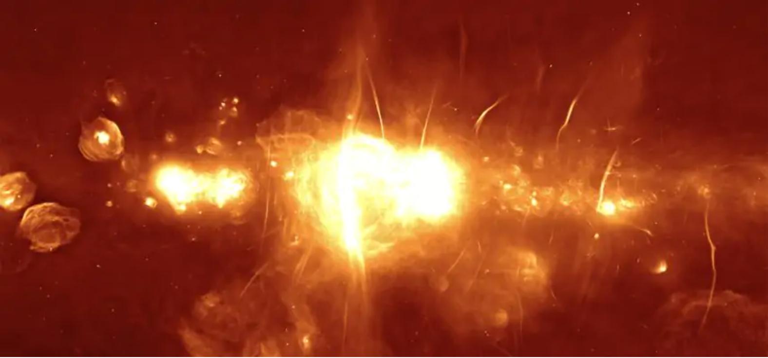 Что-то таинственное возле центра нашей Галактики «мигает» радиосигналами